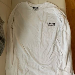 White Long Sleeve Stussy Shirt